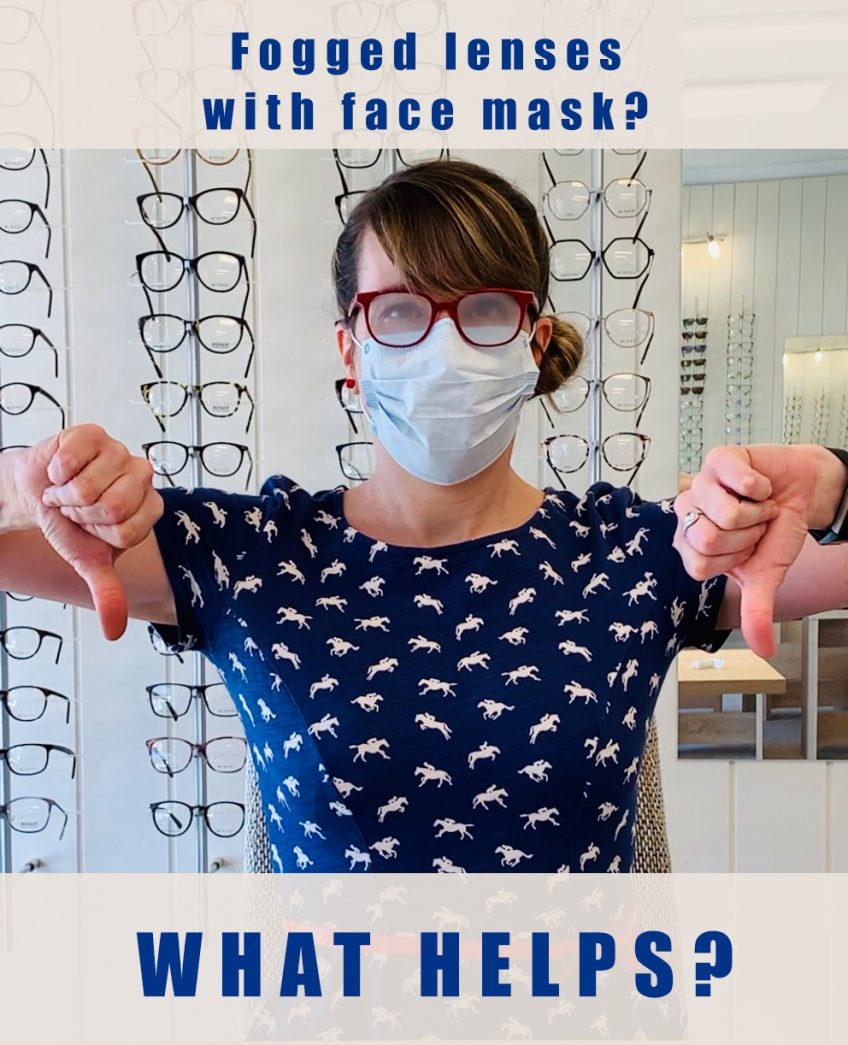 Beschlagene Brillengläser mit Mundschutz?